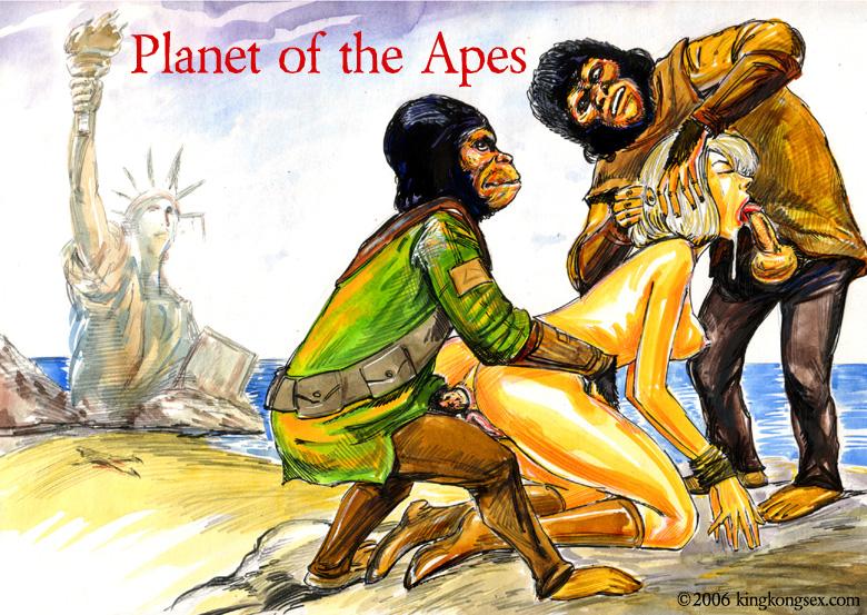 the planet apes of Jar jar binks and queen julia