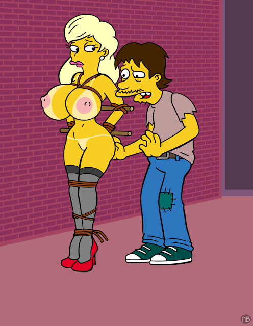 the naked marge simpsons from My hero acedemia