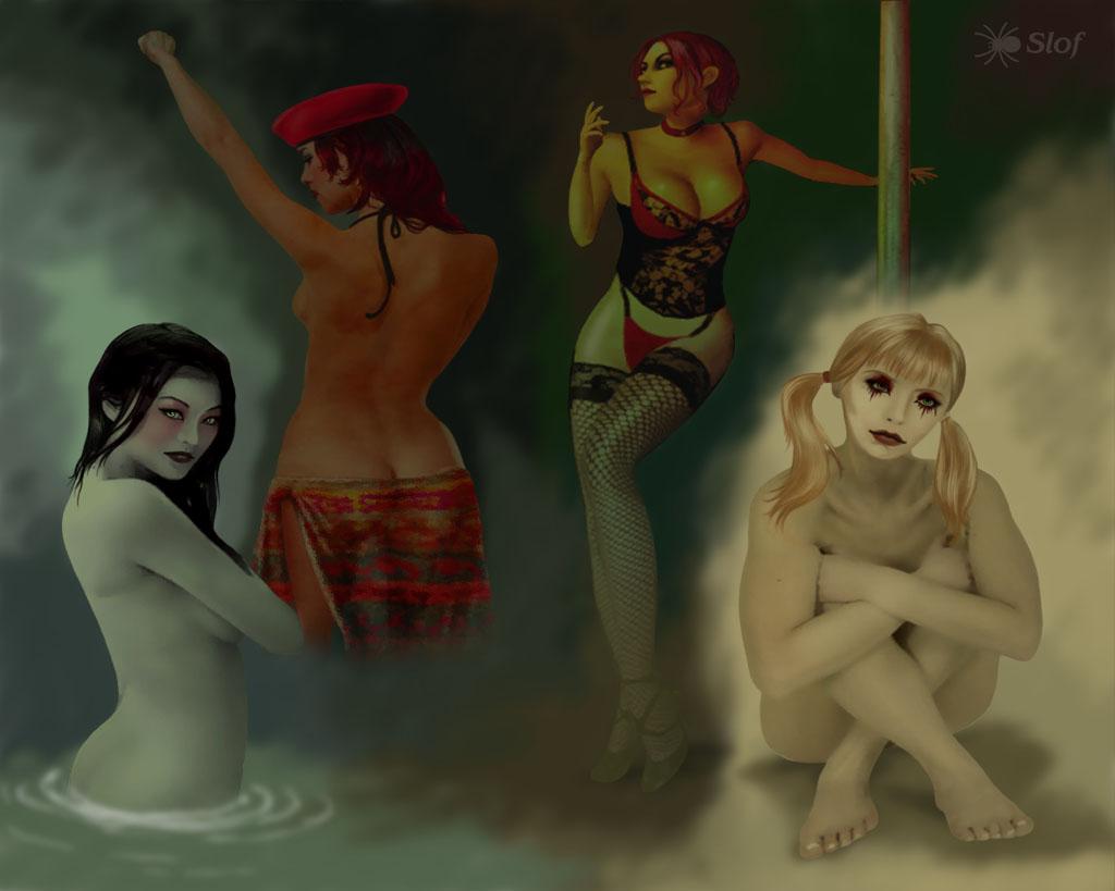 vampire the bloodlines clothes masquerade One piece robin pre timeskip